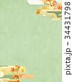 背景 和柄 紅葉のイラスト 34431798