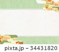 背景 和柄 紅葉のイラスト 34431820