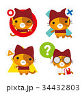 ネコとーく。赤ずきん+クイズ正解不正解 34432803