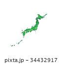 緑の日本地図 34432917