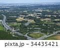 空撮 常磐高速道路友部ジャンクション  34435421