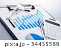 グラフ 電卓 クリップボードの写真 34435589