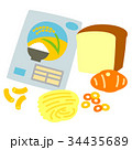 お米 パン 麺類 パスタ シリアル 34435689