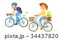 自転車 カップル 二人のイラスト 34437820