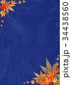 背景素材_紅葉(和紙)紺 34438560