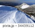雪の八ヶ岳連峰・三ツ頭稜線から見る編笠山 34439112