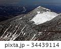 八ヶ岳連峰・三ツ頭から見る冬の編笠山と中央アルプス・御嶽遠望 34439114
