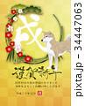 戌 松竹梅 犬のイラスト 34447063