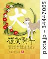 戌 松竹梅 犬のイラスト 34447065