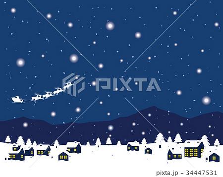雪の町並み 34447531