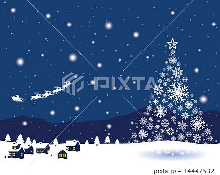 雪の町並み 34447532