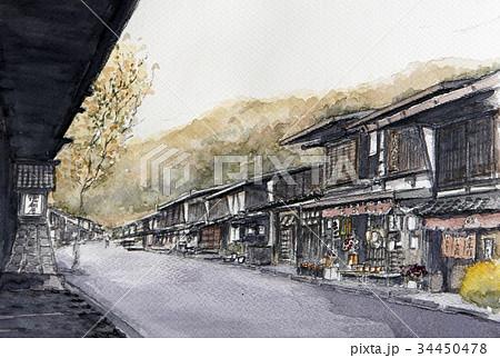 奈良井宿 宿場町 中山道 民泊 観光 34450478