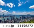 ビクトリアピークから望む香港の風景 晴天 34456872