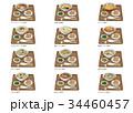 中華麺 ラーメン 餃子のイラスト 34460457