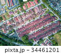 Aerial View - Houses and buildings in a small town 34461201