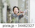 女の子 シャボン玉 34462327