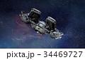宇宙船 宇宙 cgのイラスト 34469727