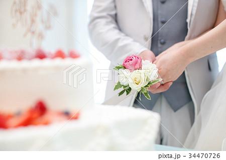 結婚式 ケーキ入刀イメージ 02 34470726