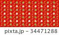 クリスマス パターン クリスマスツリーのイラスト 34471288