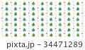 クリスマス クリスマスツリー パターンのイラスト 34471289