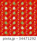 クリスマス パターン クリスマスツリーのイラスト 34471292