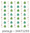 クリスマス クリスマスツリー パターンのイラスト 34471293