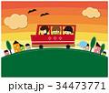 夕方の送迎バス 34473771