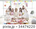 女性 ホームパーティ ベビーシャワーの写真 34474220