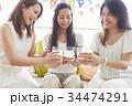 女性 ホームパーティ パーティの写真 34474291