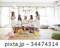 女性 ホームパーティ ベビーシャワーの写真 34474314