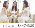 女性 ホームパーティ パーティの写真 34474385