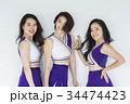 チアリーダー チアガール 女性の写真 34474423
