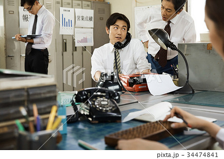 昭和のサラリーマン 仕事風景 34474841