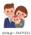 家族 共働き 子育てのイラスト 34475321
