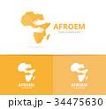 ロゴ アフリカ アフリカ大陸のイラスト 34475630