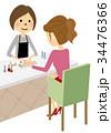 ネイルサロンでネイルする女性 34476366