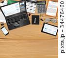 テーブル デスク コンピュータのイラスト 34476460