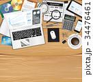 テーブル デスク コンピュータのイラスト 34476461
