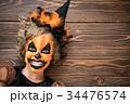 Halloween Pumpkin Autumn Holiday Concept 34476574