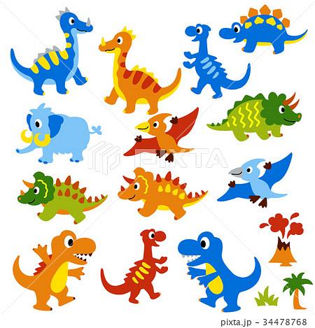 可愛い恐竜のイラストのイラスト素材 34478768 Pixta