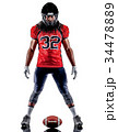 american football player man isolated 34478889