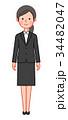 黒スーツ 女性 正面 34482047