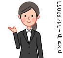 女性 人物 スーツのイラスト 34482053