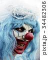 scary evil clown in a bride dress 34482306