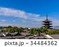 京都 青空 八坂の塔の写真 34484362