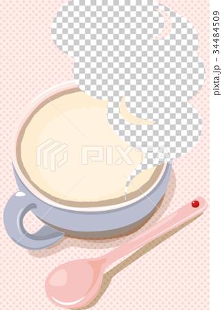 勺子 蒸汽 杯子 34484509