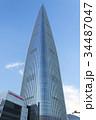 青空にそびえる ロッテワールドタワー 34487047