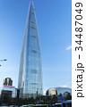 青空にそびえる ロッテワールドタワー 34487049