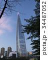 青空にそびえる ロッテワールドタワー 34487052