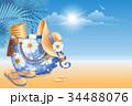 ビーチ ハンドバッグ 手提げのイラスト 34488076